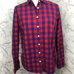 J. Crew Boy Fit Flannel Button Down